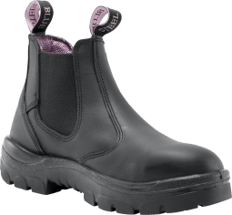 Steel Blue Ladies BLACK Hobart Boot 512701 -The Hobart Ladies is a 120mm ankle-height elastic-sided Pull On ladies boot