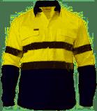 Bisley HiVis 2 Tone Drill Shirt 6456